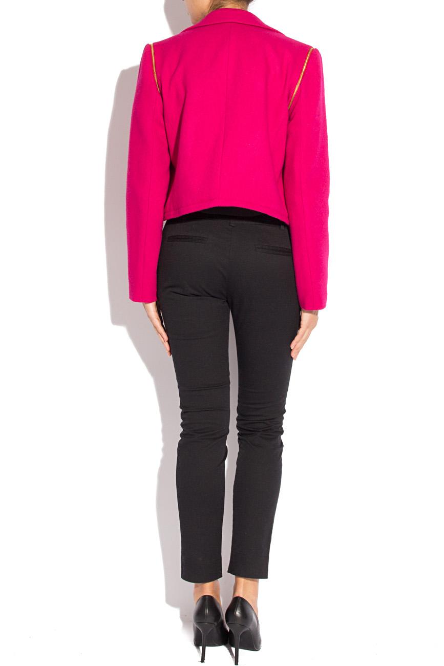 Fuchsia jacket with detachable sleeves Mirela Diaconu  image 3