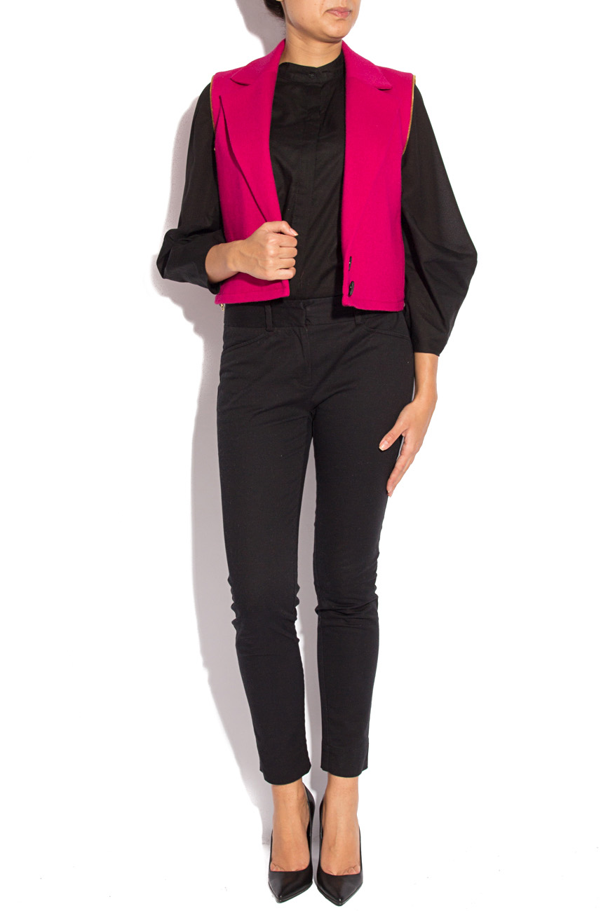 Fuchsia jacket with detachable sleeves Mirela Diaconu  image 1