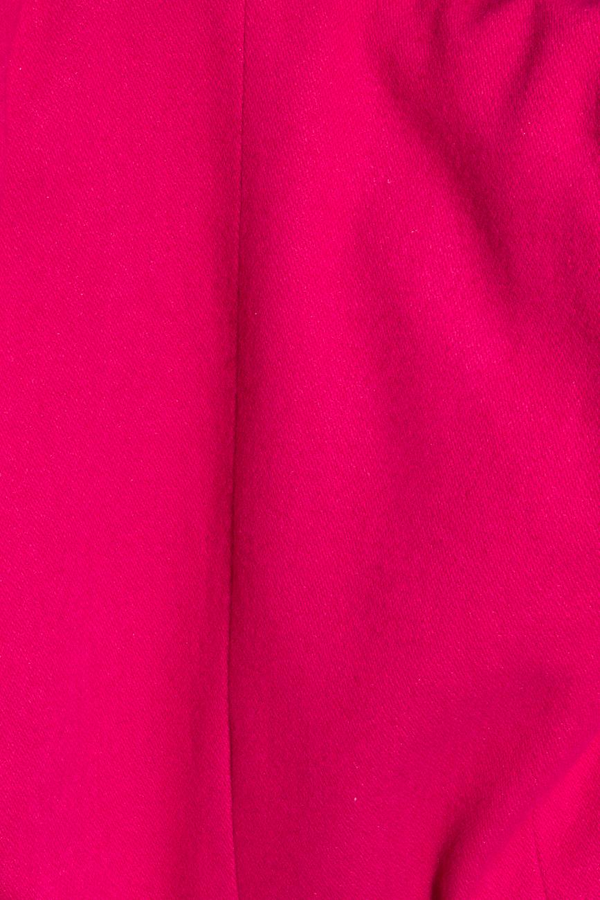 Fuchsia jacket with detachable sleeves Mirela Diaconu  image 4