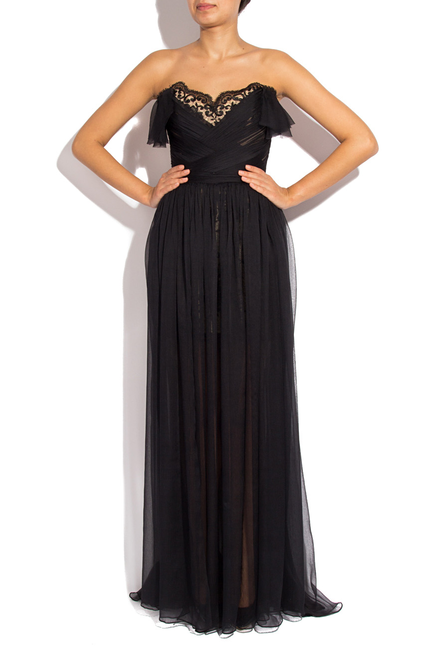 Long black veil dress Mirela Diaconu  image 1