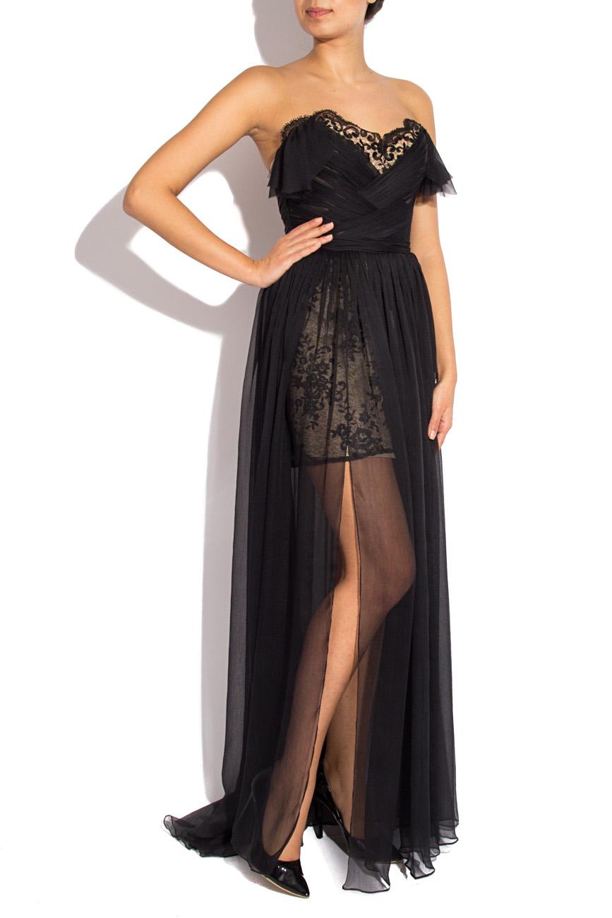 Long black veil dress Mirela Diaconu  image 0