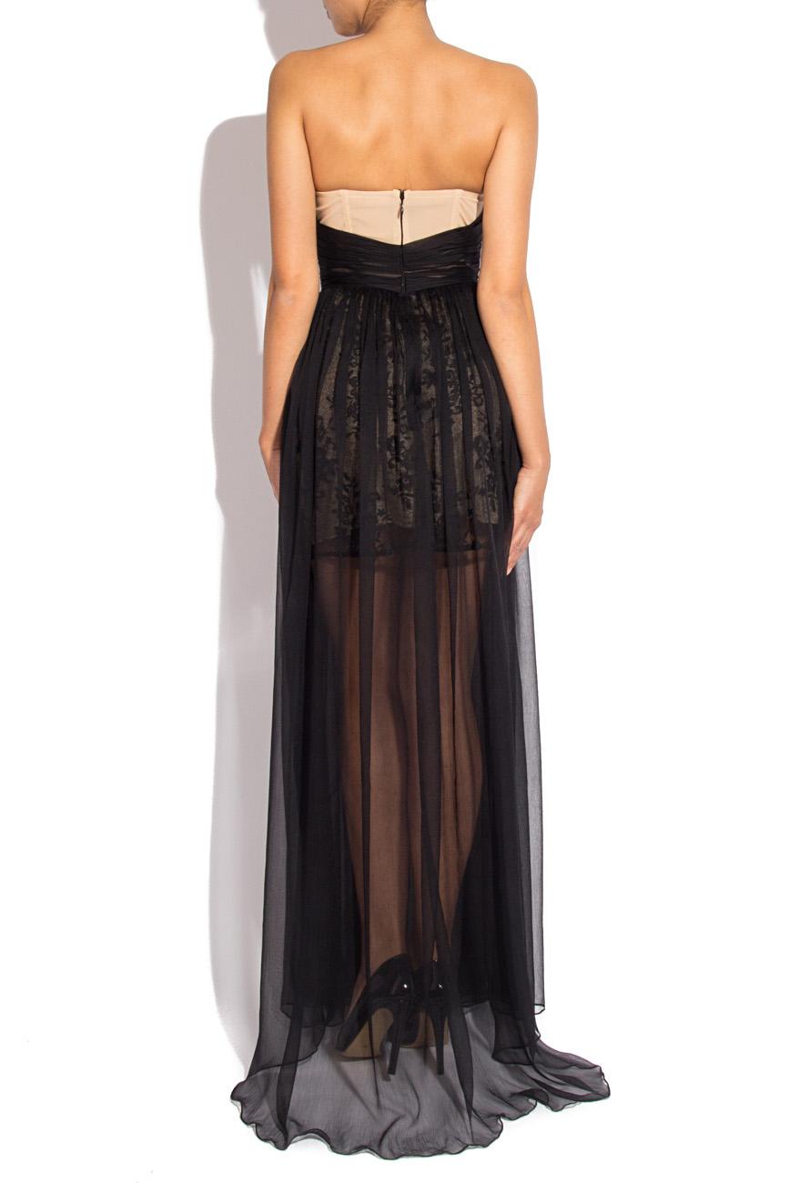 Long black veil dress Mirela Diaconu  image 2