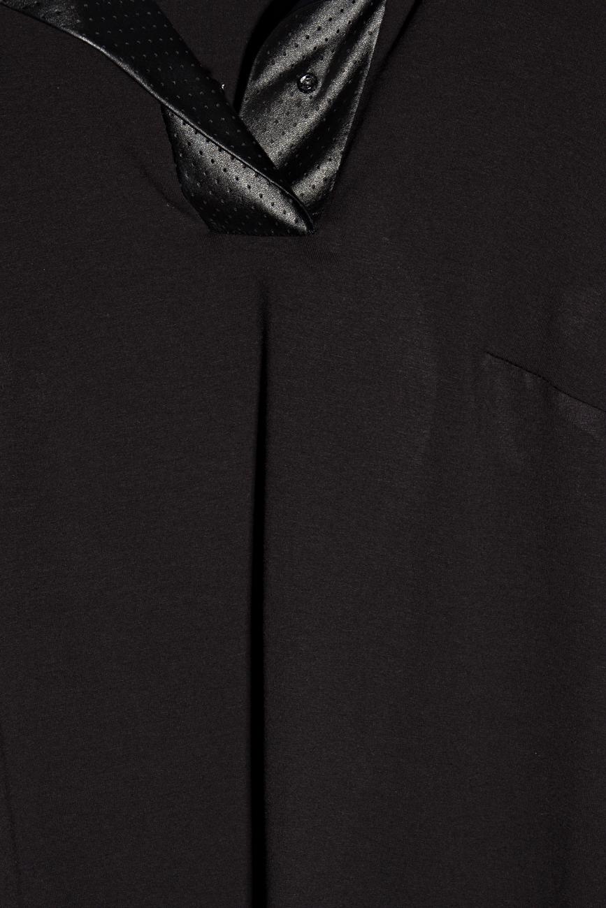 Chemise en jersey noir Lena Criveanu image 3