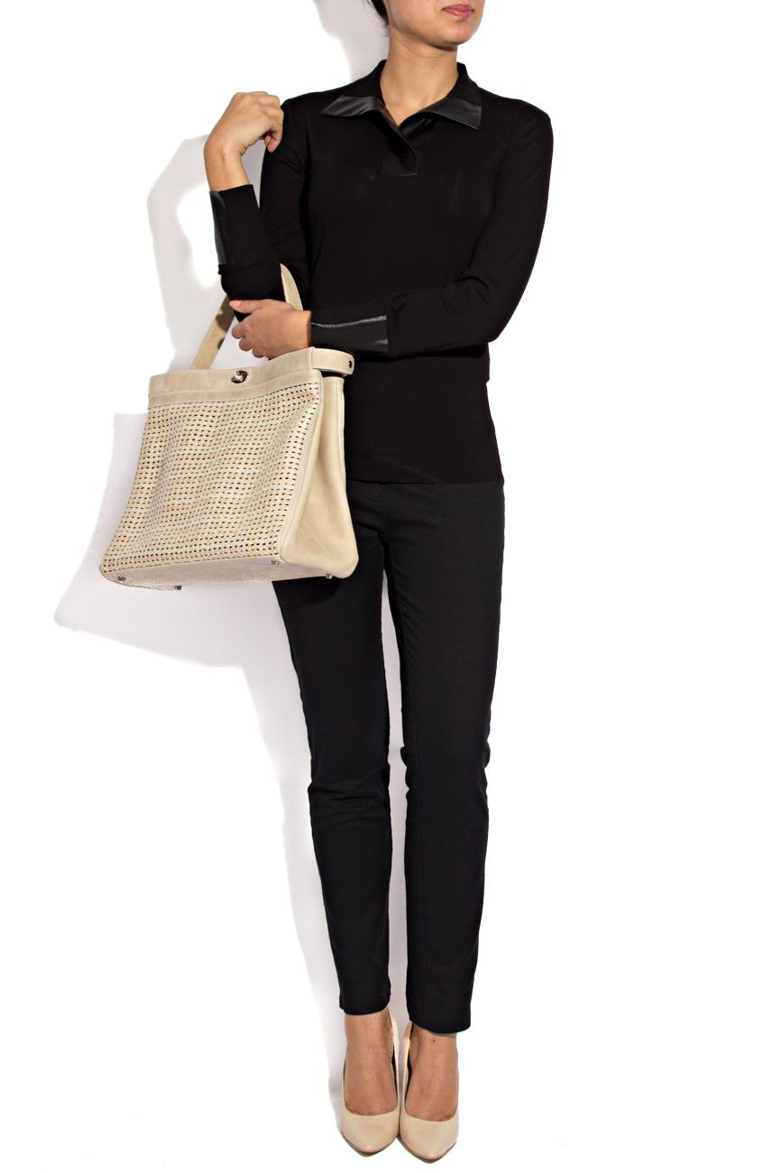 Chemise en jersey noir Lena Criveanu image 0