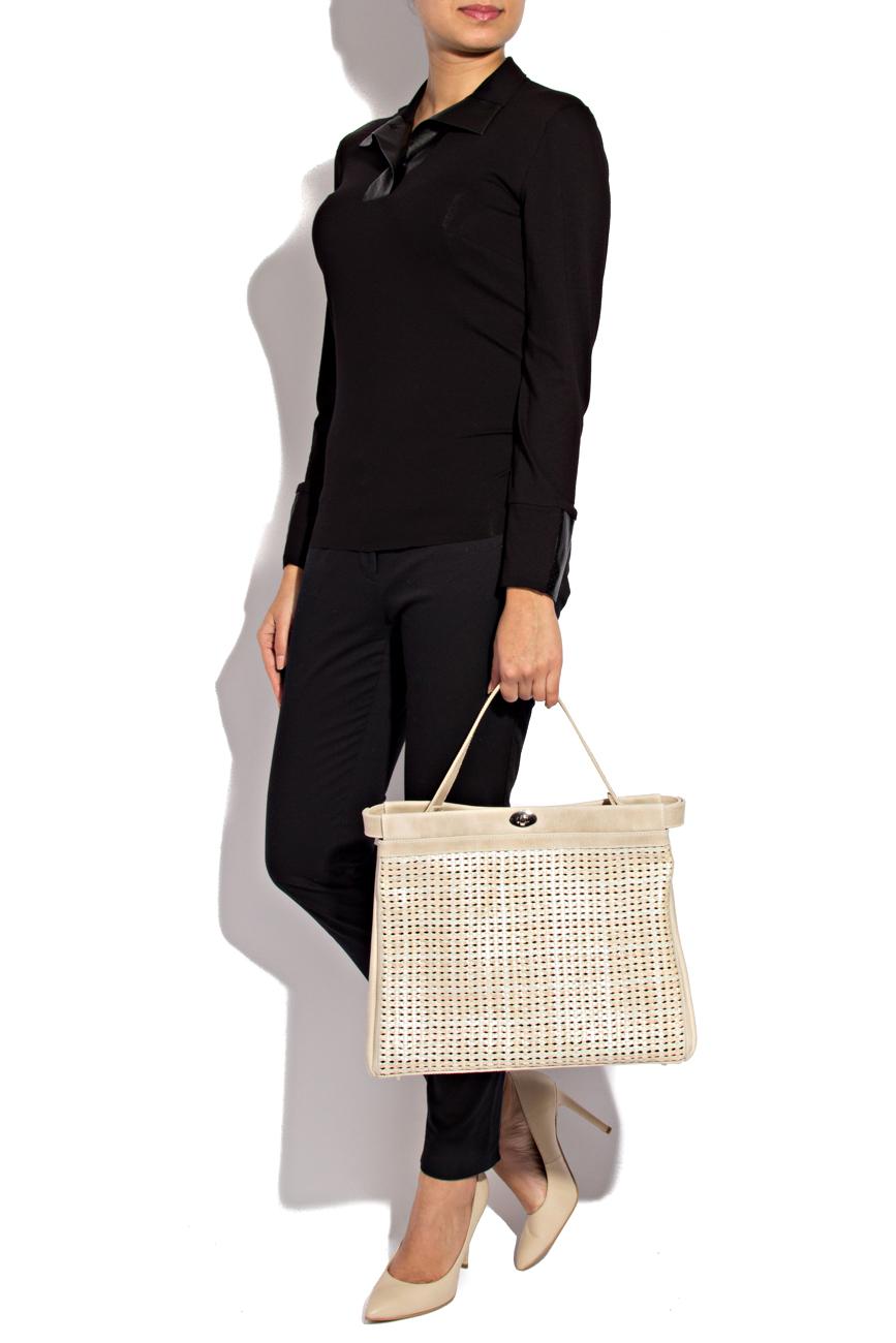 Chemise en jersey noir Lena Criveanu image 1