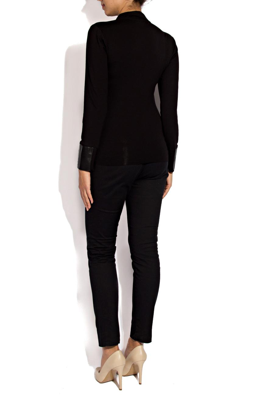Chemise en jersey noir Lena Criveanu image 2