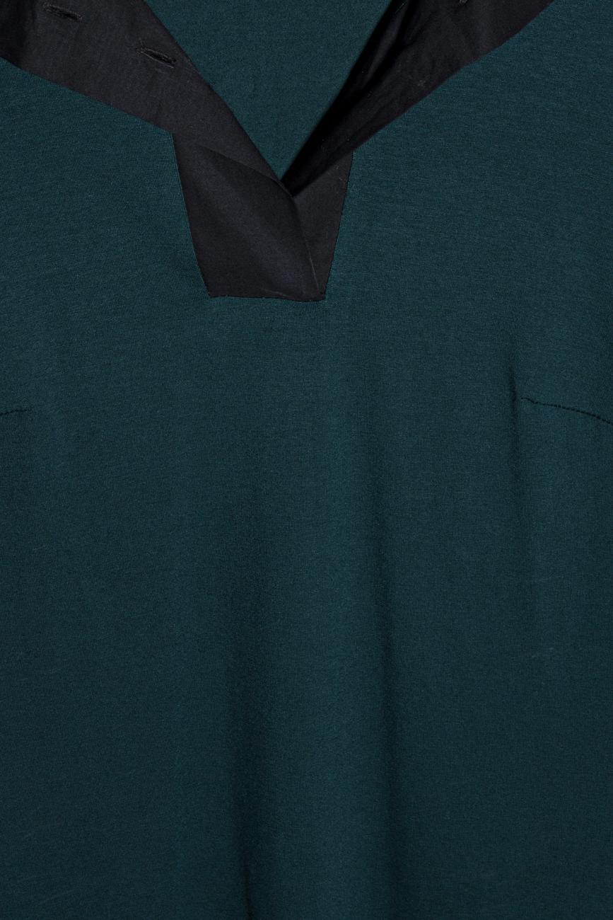 Bluza jerse verde Lena Criveanu imagine 3