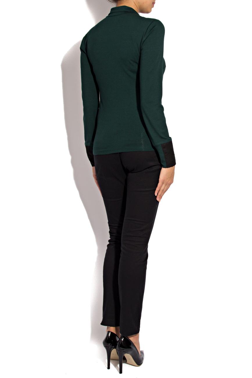 Bluza jerse verde Lena Criveanu imagine 2