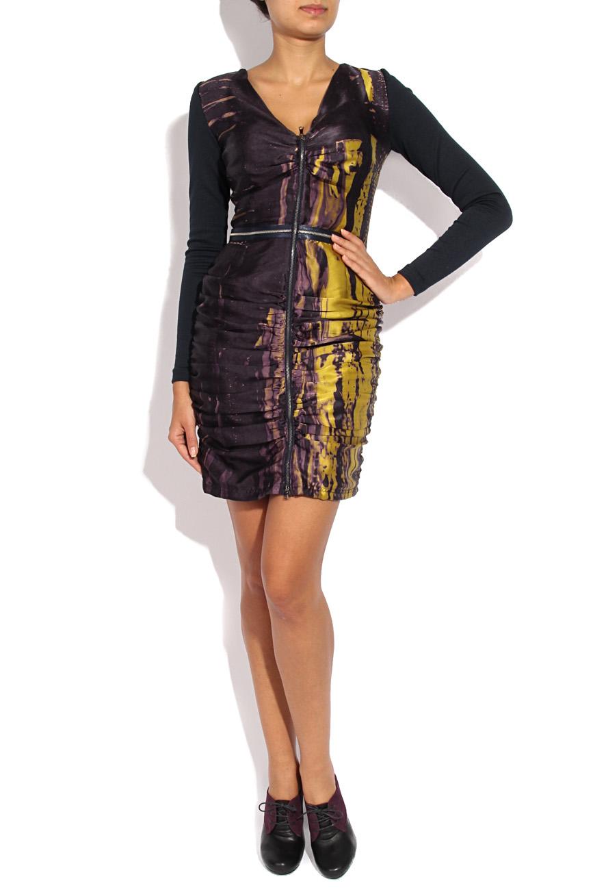 Printed silk dress with sleeves Mirela Diaconu  image 0