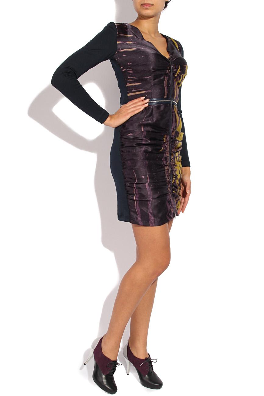 Printed silk dress with sleeves Mirela Diaconu  image 1