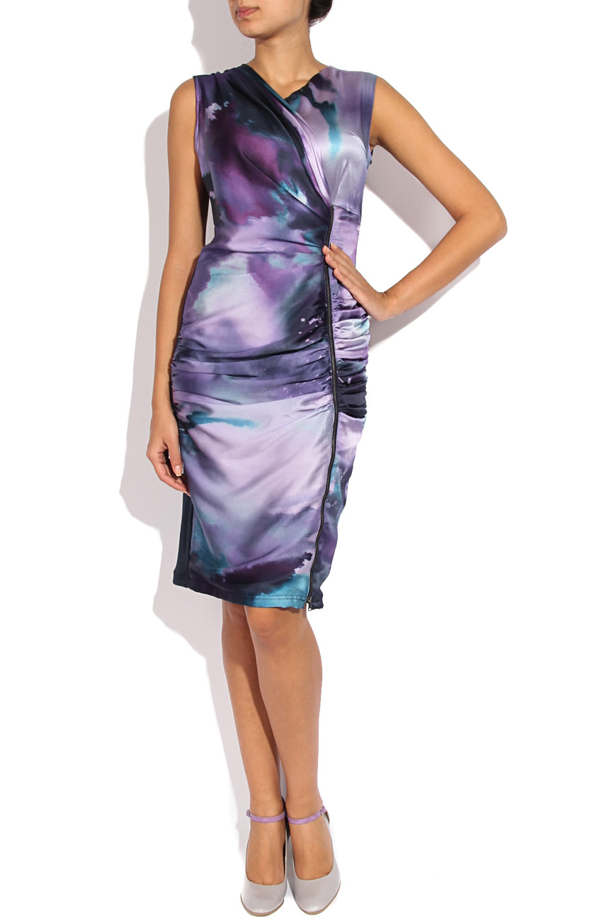 Printed silk dress Mirela Diaconu  image 1