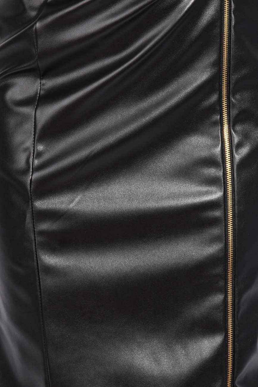 Leather imitation dress Mirela Diaconu  image 3