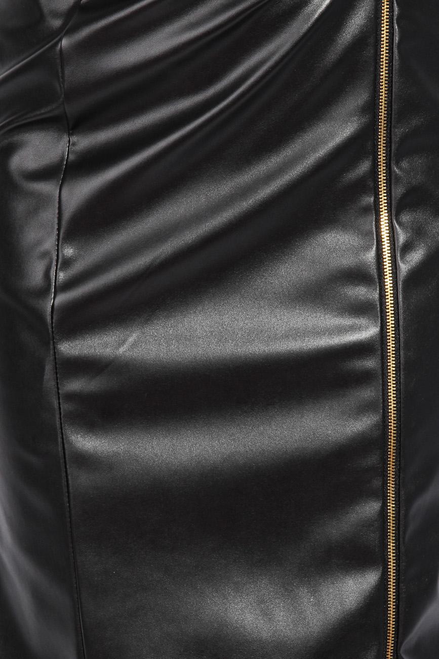 Leather imitation dress Mirela Diaconu  image 3