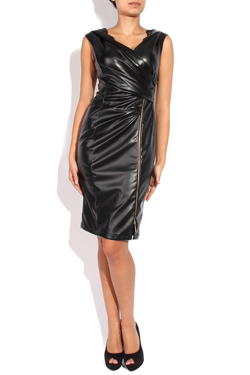 Leather imitation dress Mirela Diaconu  image 0
