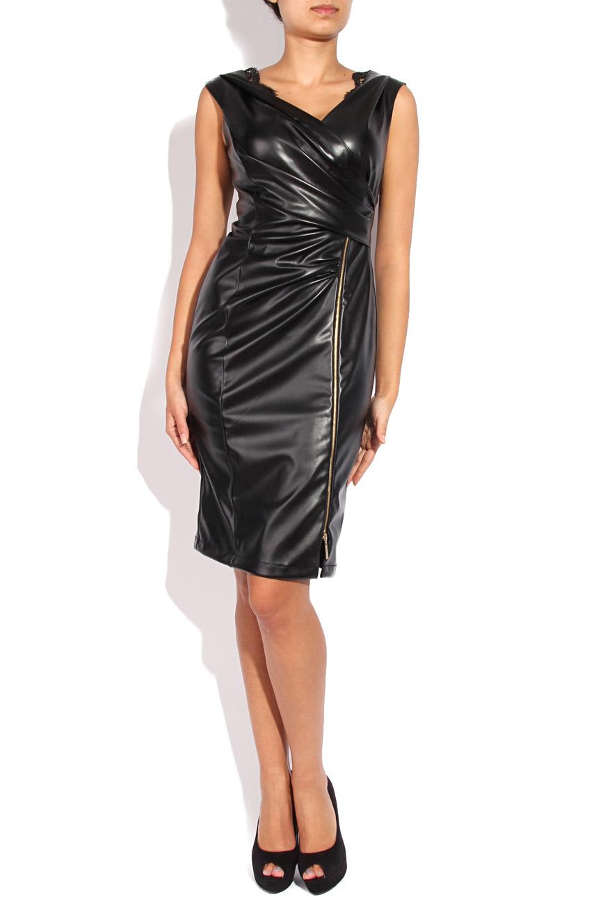 Leather imitation dress Mirela Diaconu  image 0