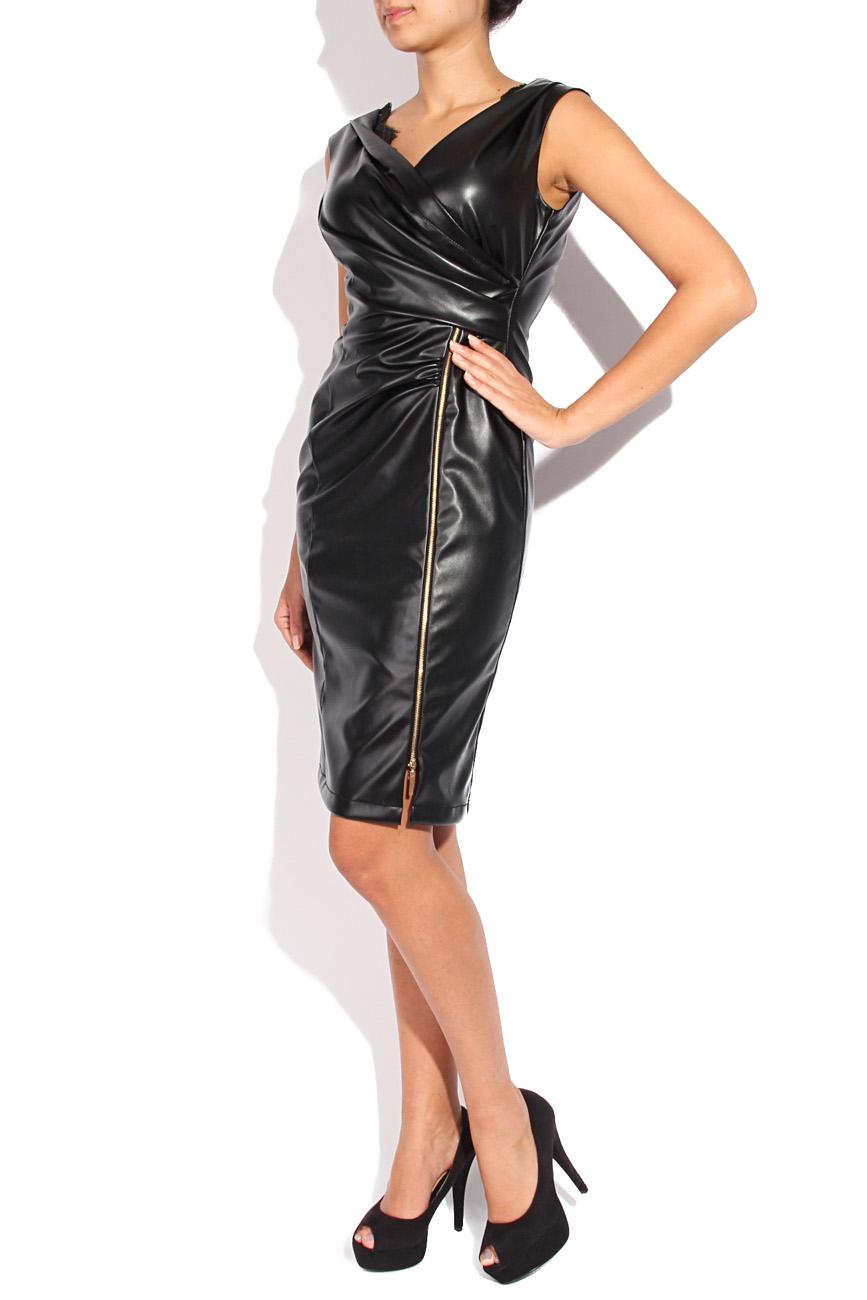 Leather imitation dress Mirela Diaconu  image 1