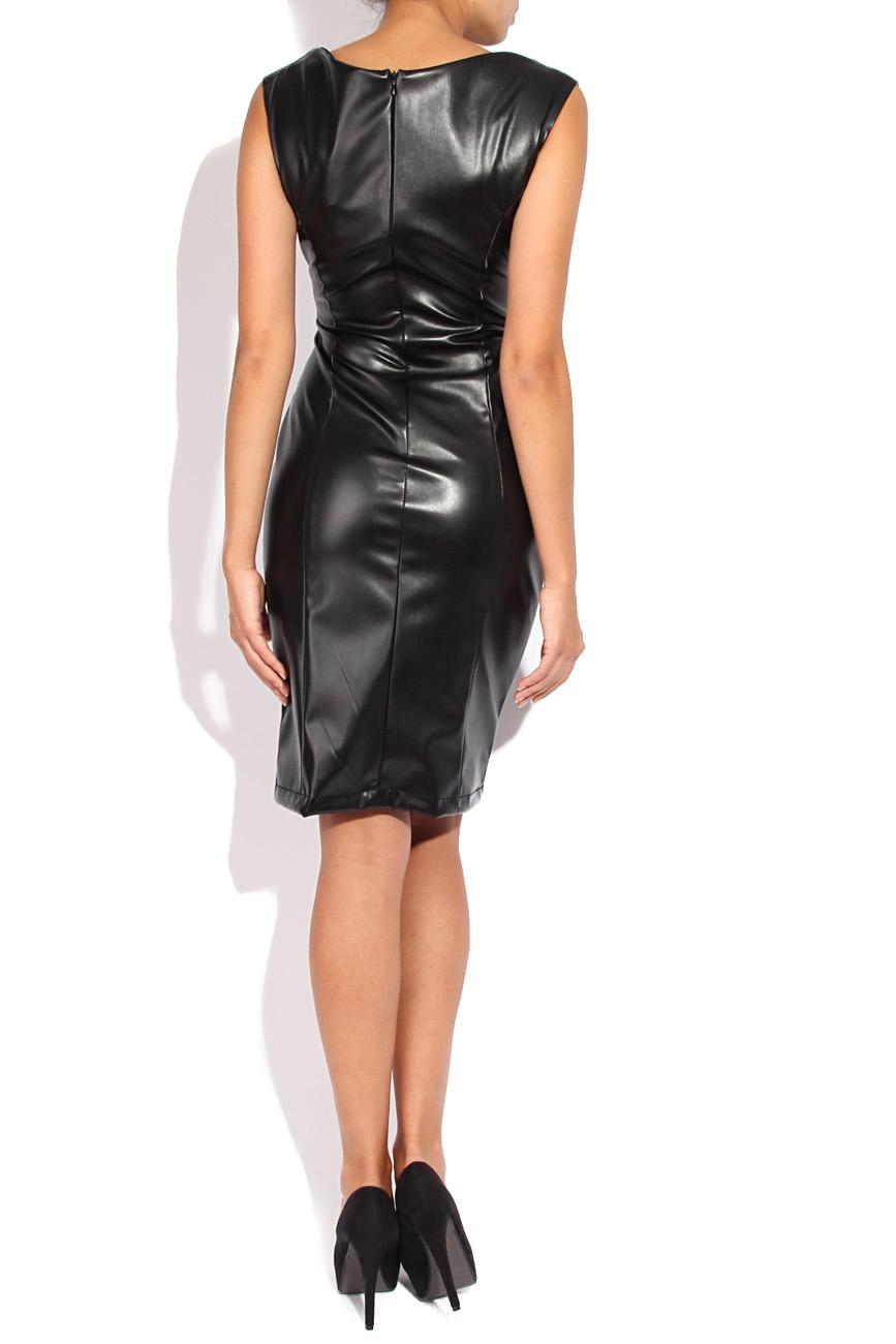 Leather imitation dress Mirela Diaconu  image 2