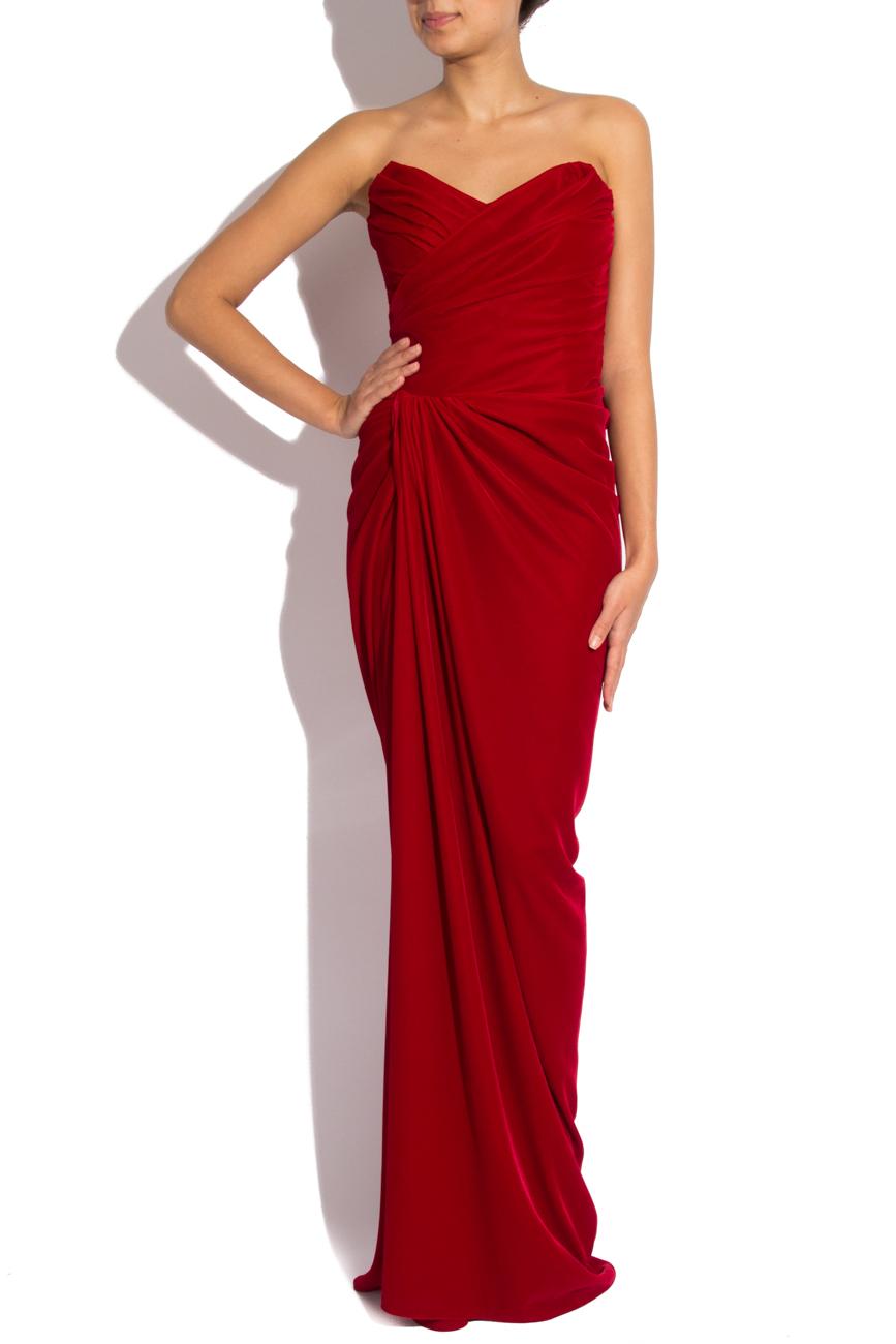 Long velvet dress Mirela Diaconu  image 0
