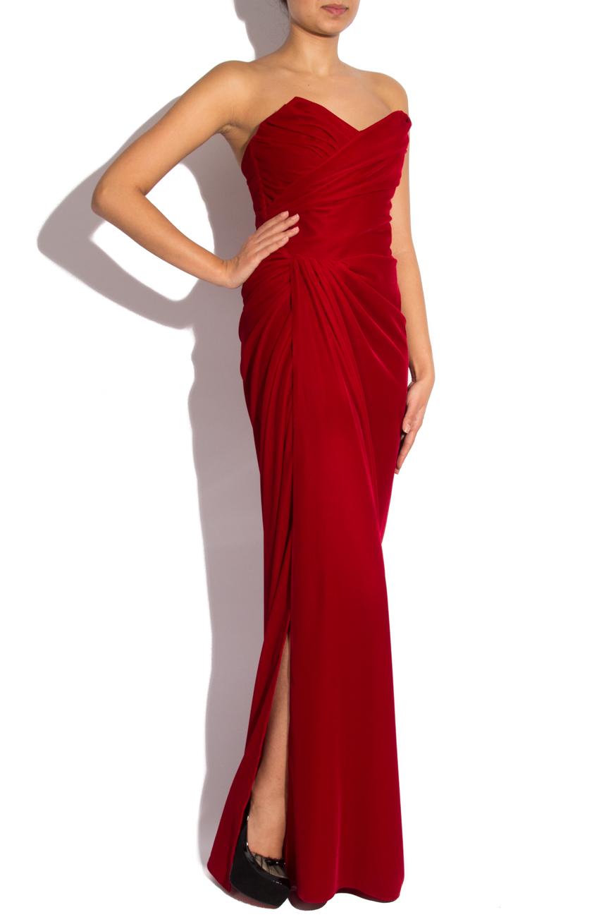 Long velvet dress Mirela Diaconu  image 1