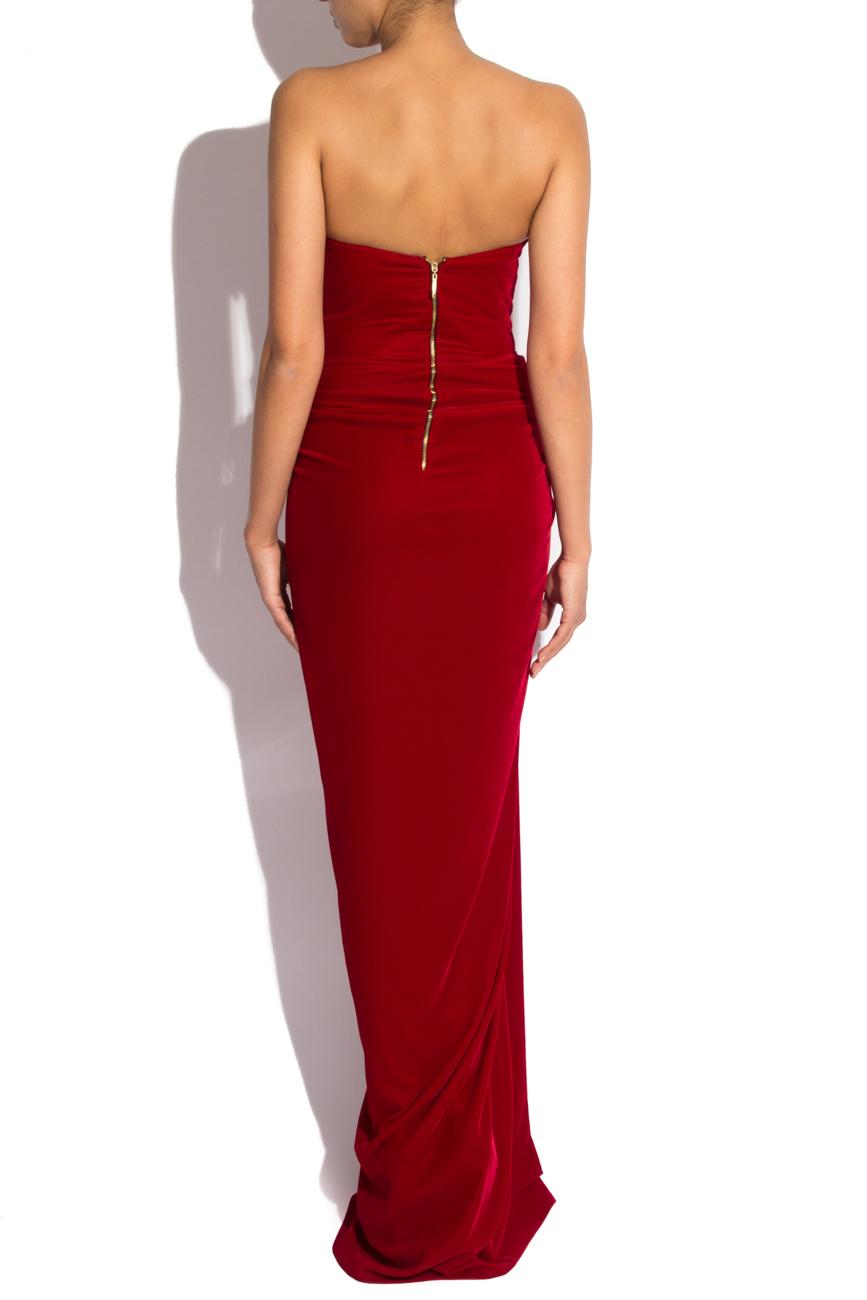 Long velvet dress Mirela Diaconu  image 2