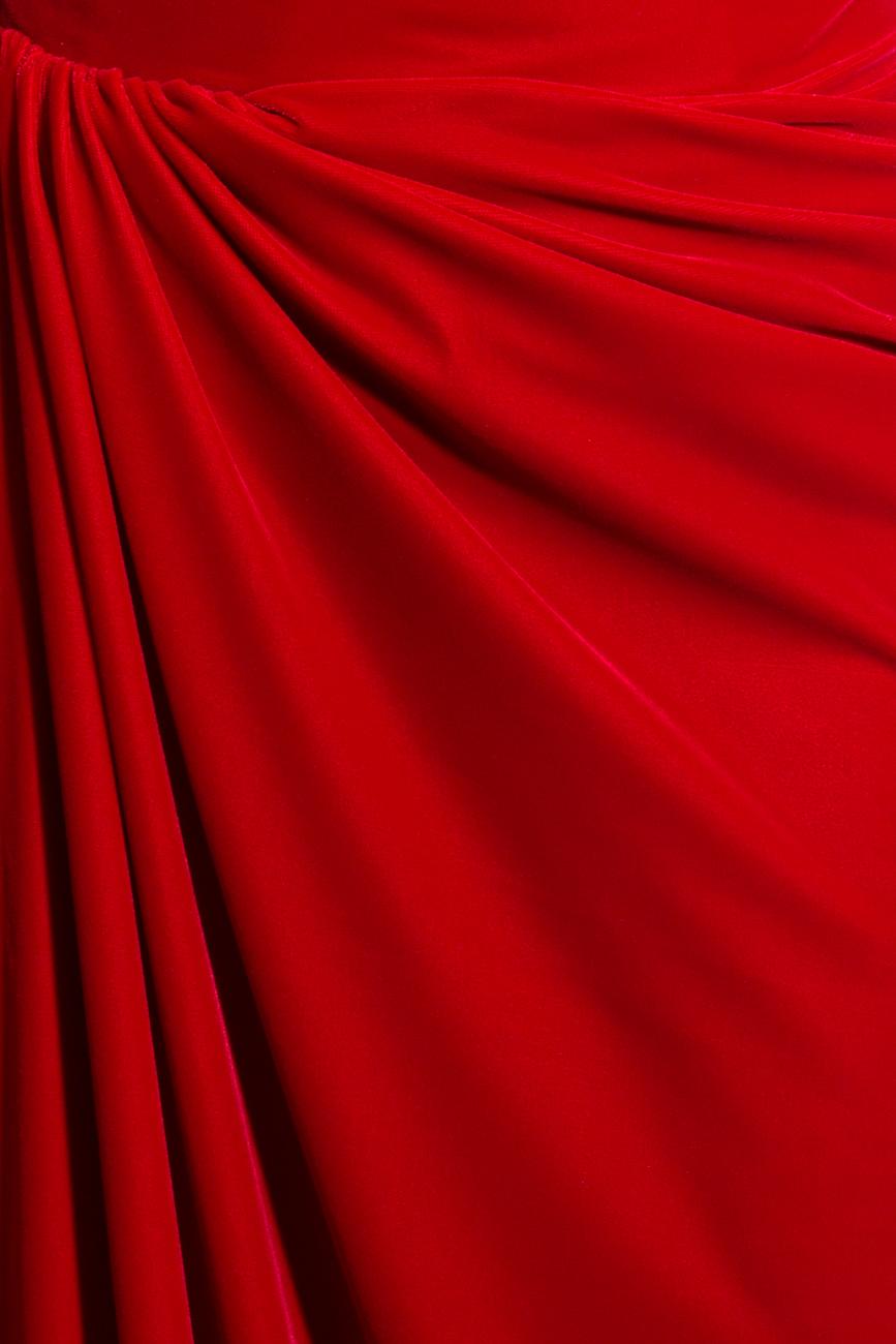 Long velvet dress Mirela Diaconu  image 3