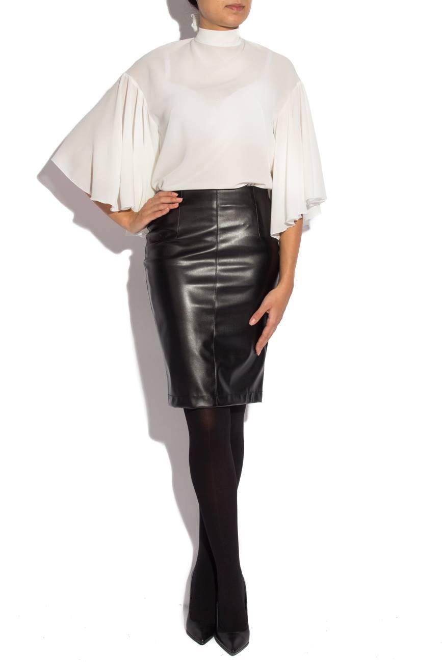 Skirt from leather imitation Mirela Diaconu  image 0