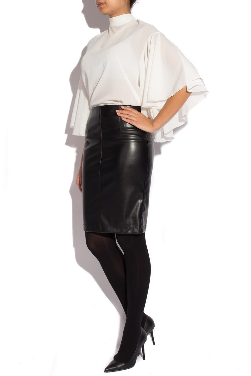 Skirt from leather imitation Mirela Diaconu  image 1