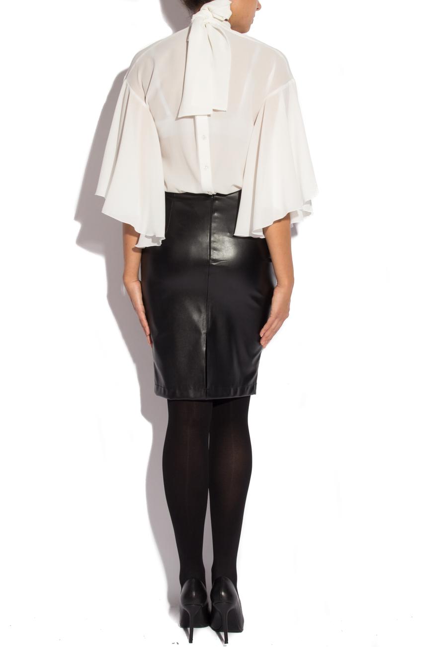 Skirt from leather imitation Mirela Diaconu  image 2