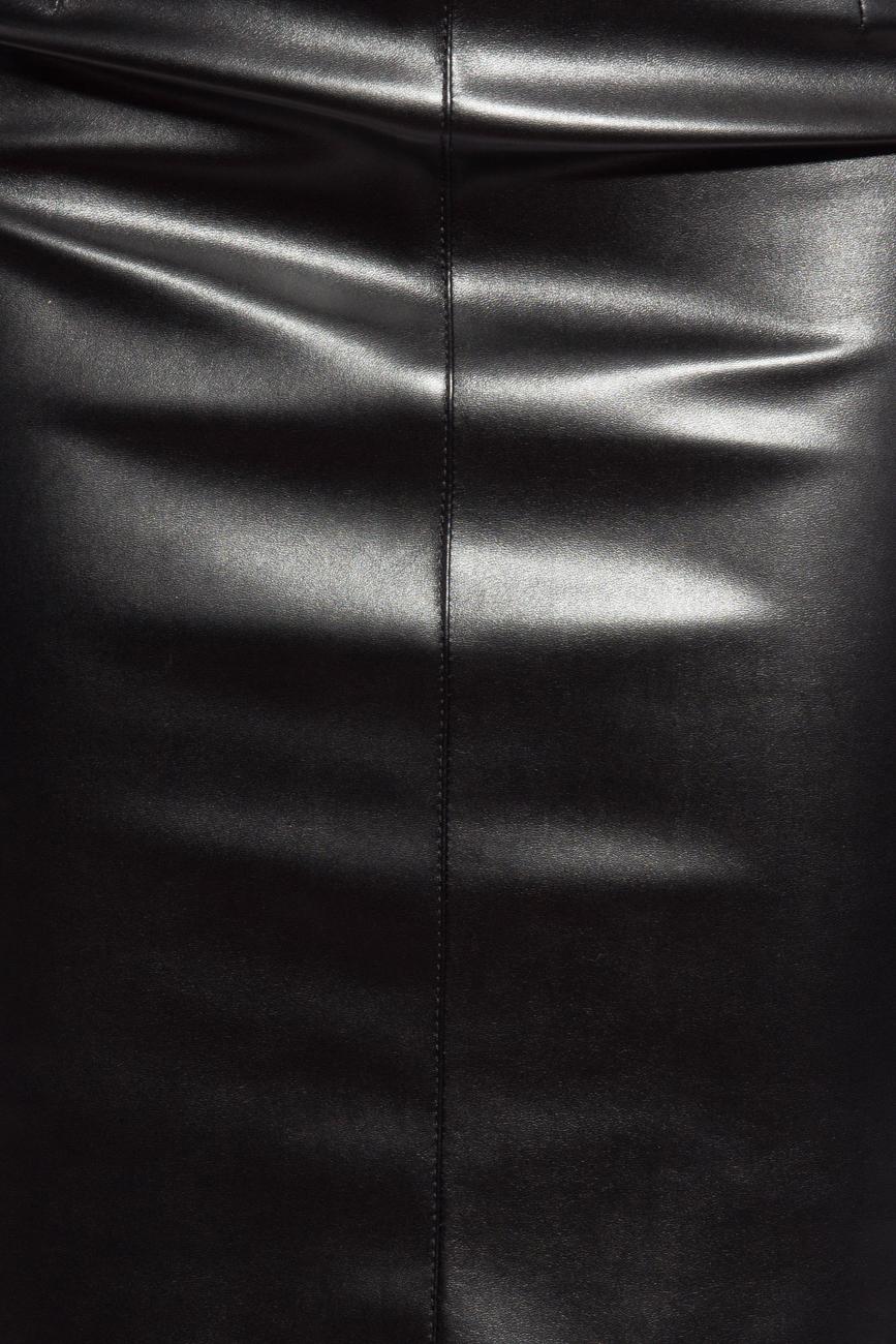 Skirt from leather imitation Mirela Diaconu  image 3