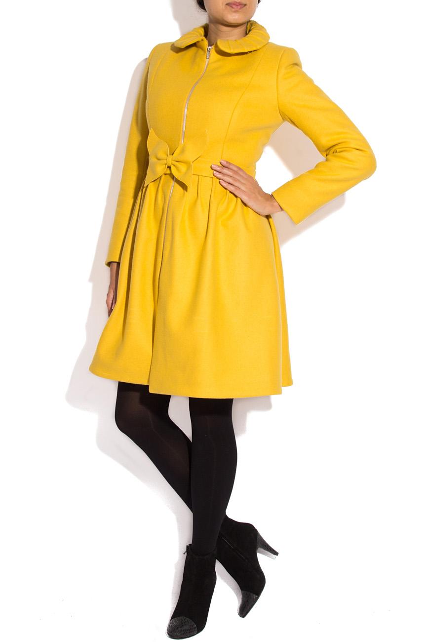 Manteau jaune en laine Karmen Herscovici image 1