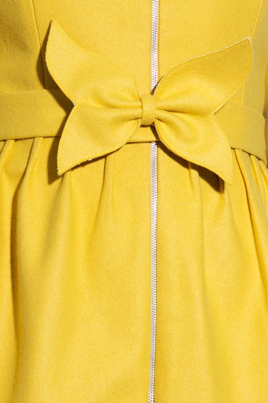 Manteau jaune en laine Karmen Herscovici image 3
