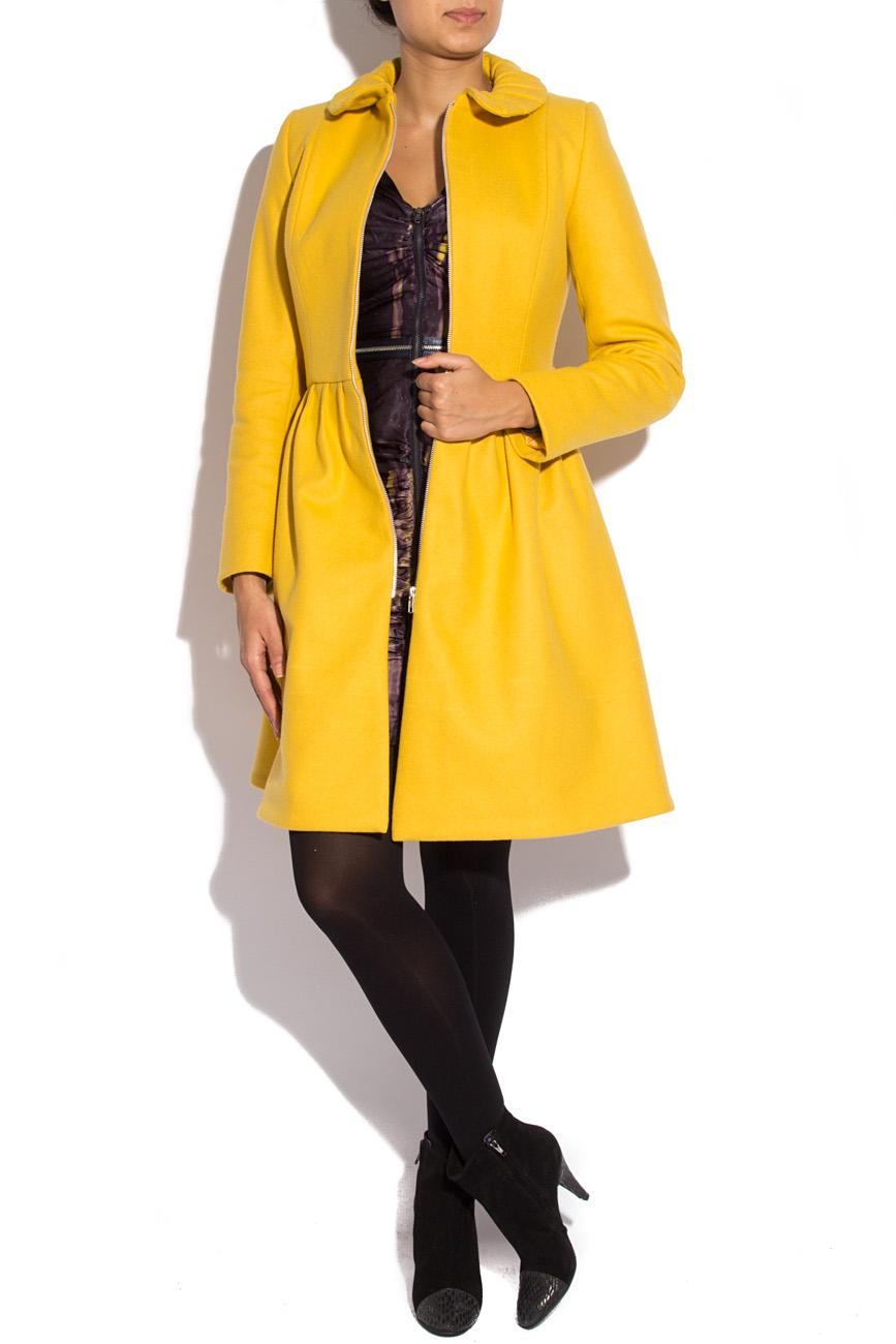 Manteau jaune en laine Karmen Herscovici image 0