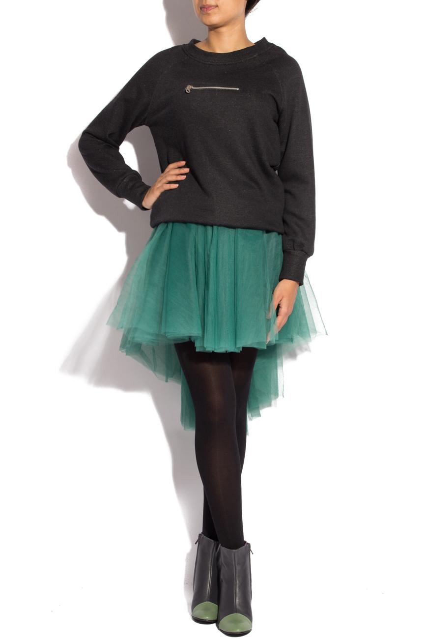 Black sport shirt with zipper Izabela Mandoiu image 0