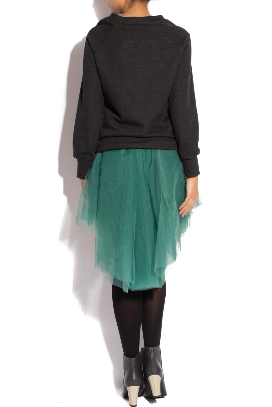 Black sport shirt with zipper Izabela Mandoiu image 1