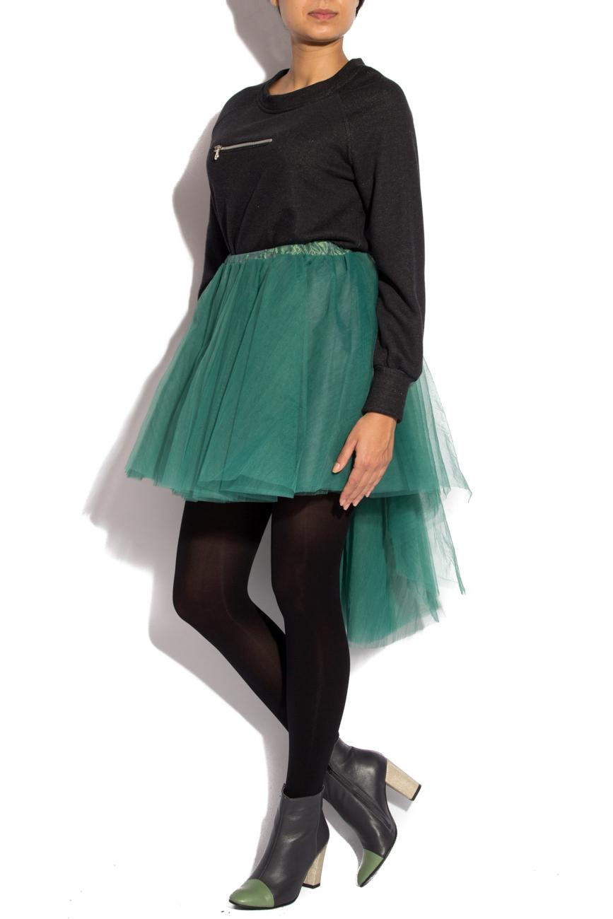 Black sport shirt with zipper Izabela Mandoiu image 2