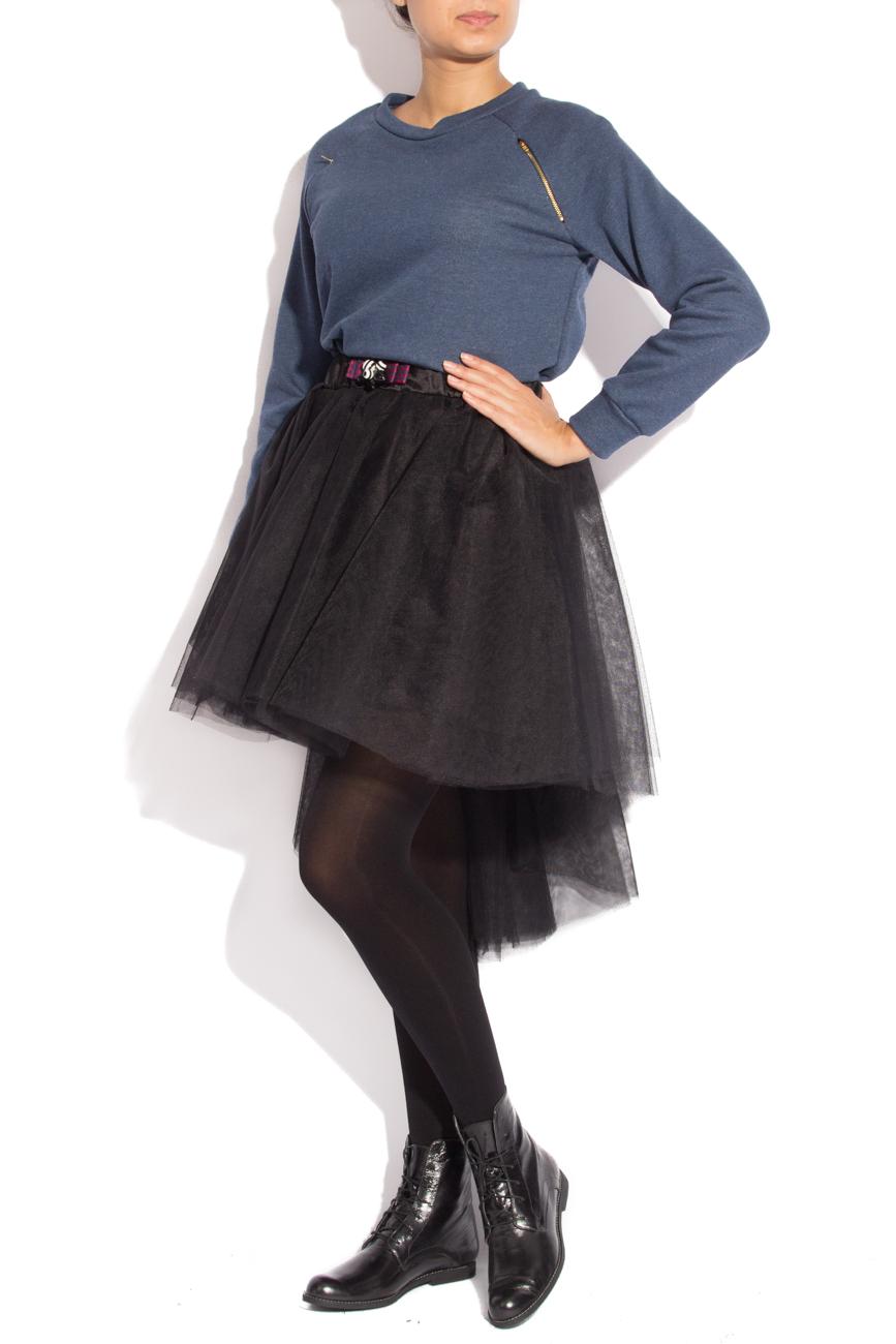 Blue sport shirt with zipper Izabela Mandoiu image 1