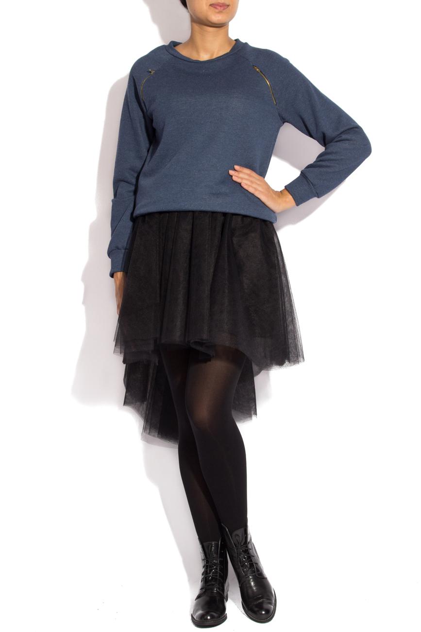 Bluza sport albastra cu fermoar Izabela Mandoiu imagine 0