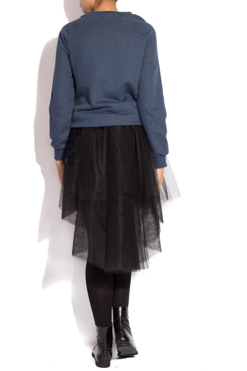 Bluza sport albastra cu fermoar Izabela Mandoiu imagine 2