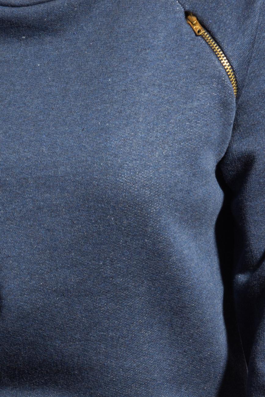 Bluza sport albastra cu fermoar Izabela Mandoiu imagine 3