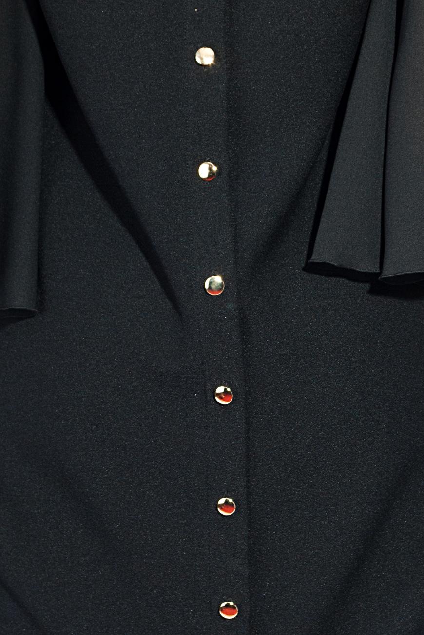 Robe en triple voile noir Lena Criveanu image 3