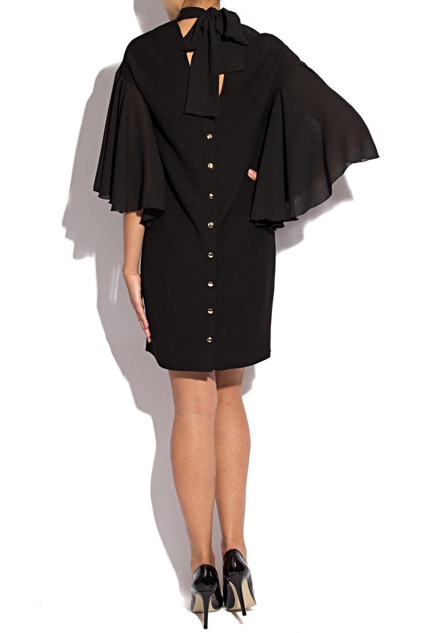 Triple veil black dress Lena Criveanu image 2