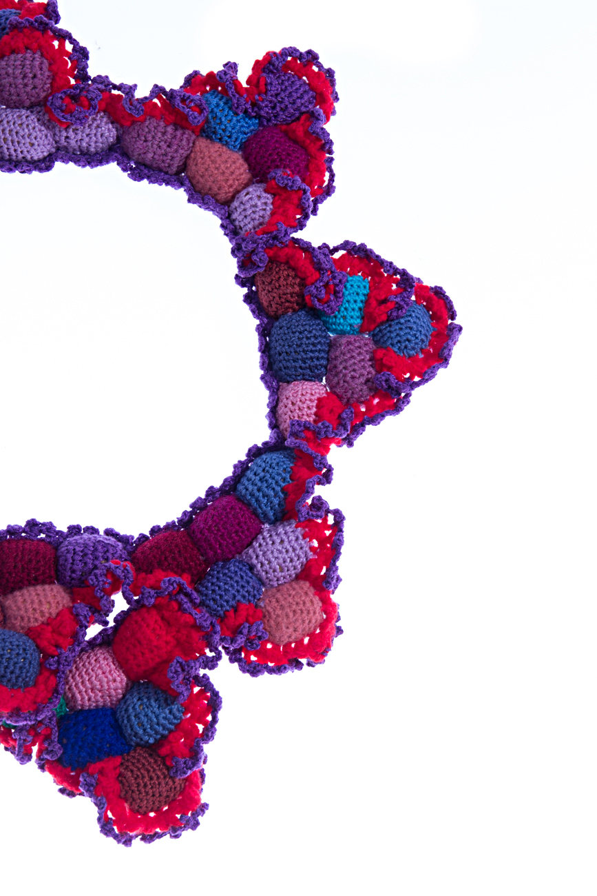 Crochet collar necklace Gabriela Urda image 3