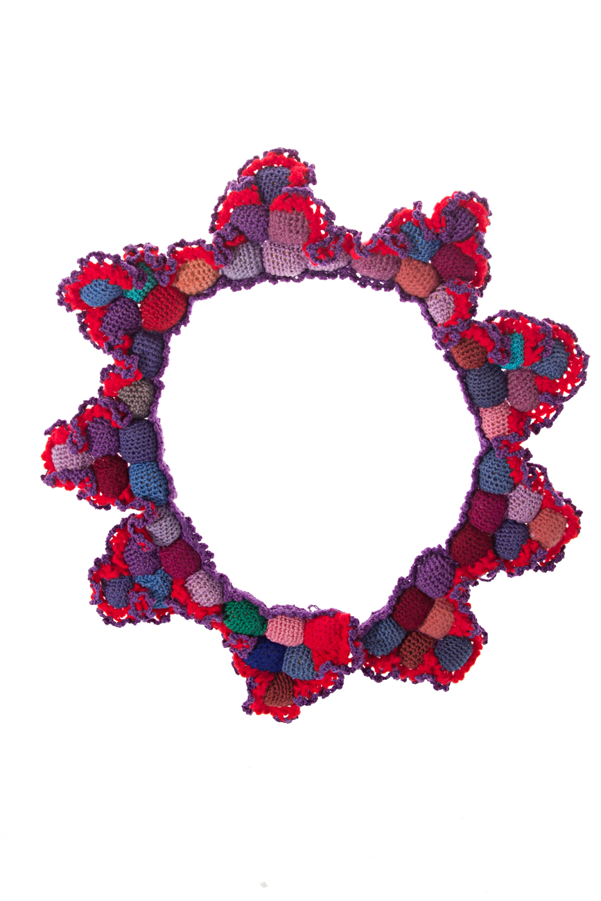 Crochet collar necklace Gabriela Urda image 1