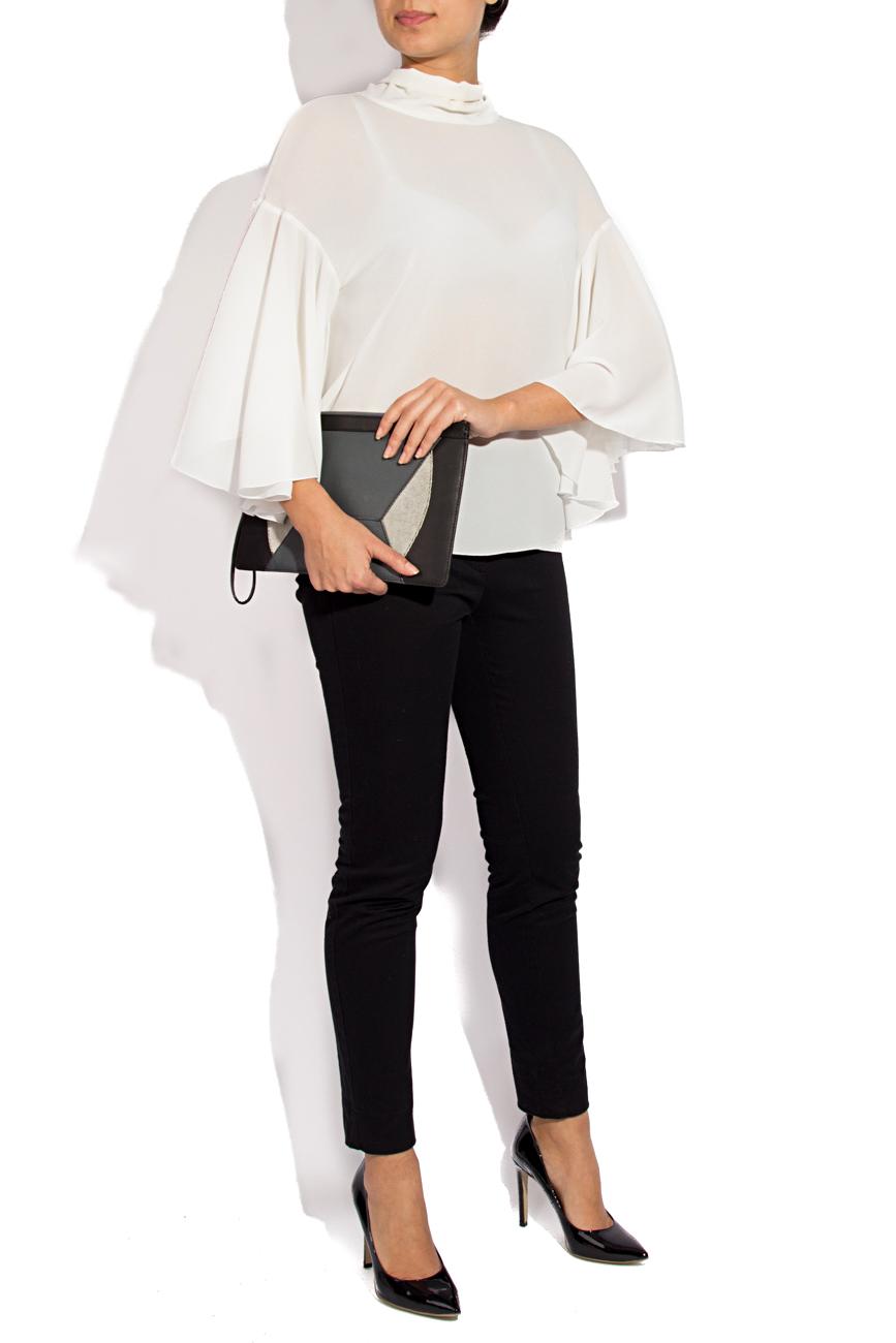 White blouse with scarf Lena Criveanu image 0