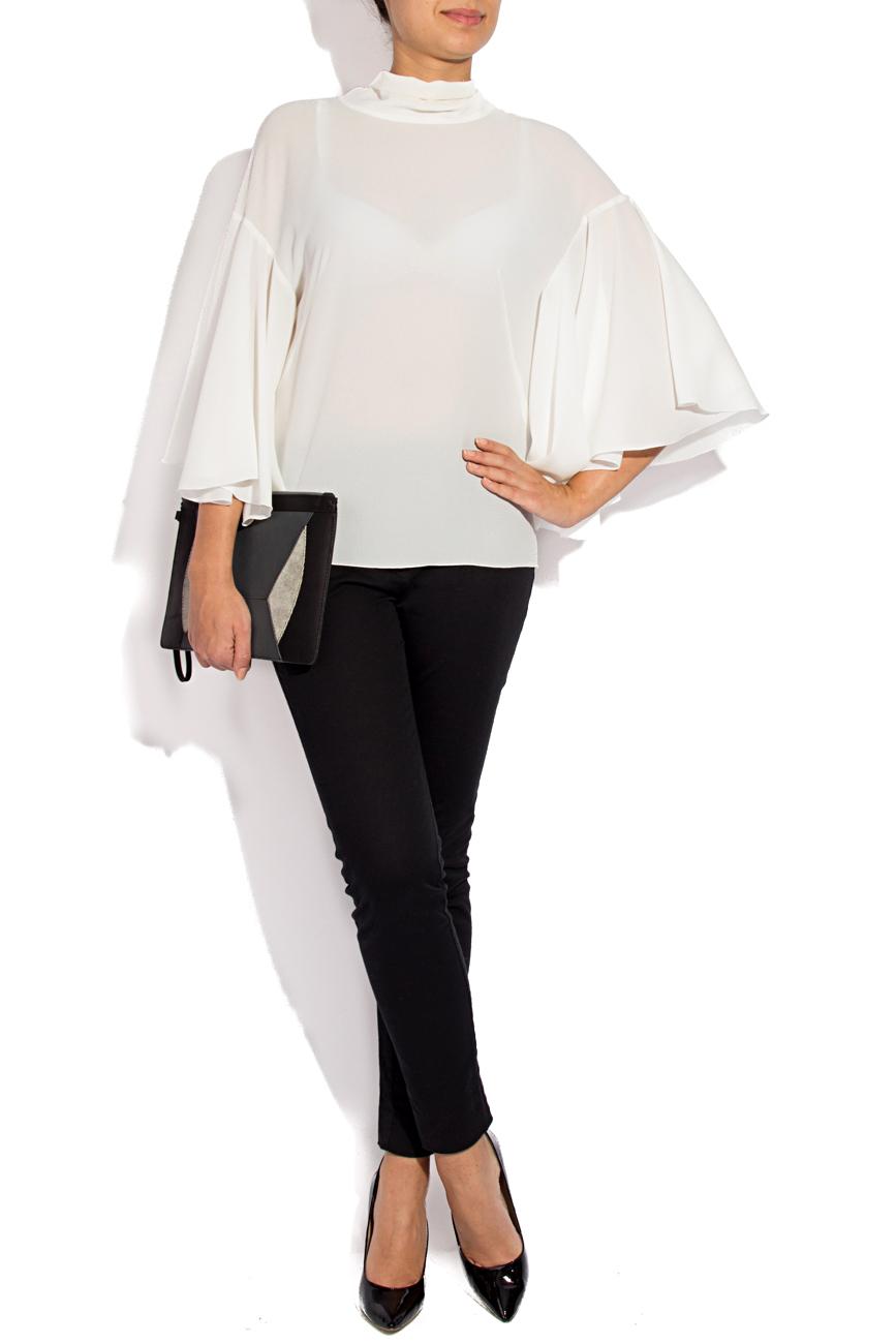 White blouse with scarf Lena Criveanu image 1