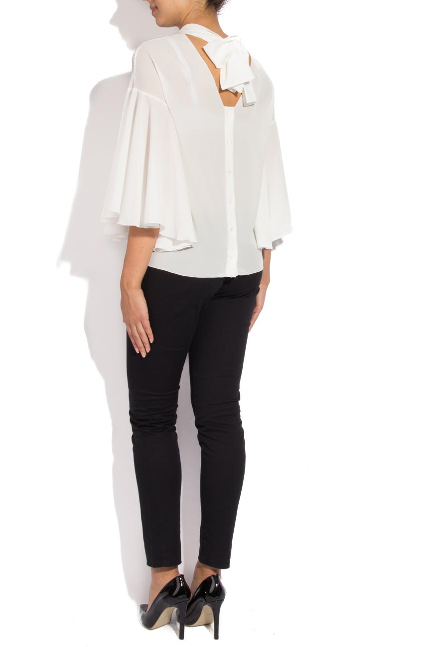 White blouse with scarf Lena Criveanu image 2