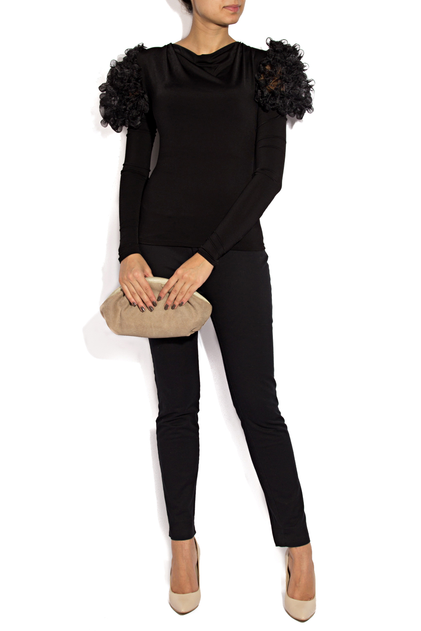 Bluza neagra cu bile Mihaela Cirlugea  imagine 0