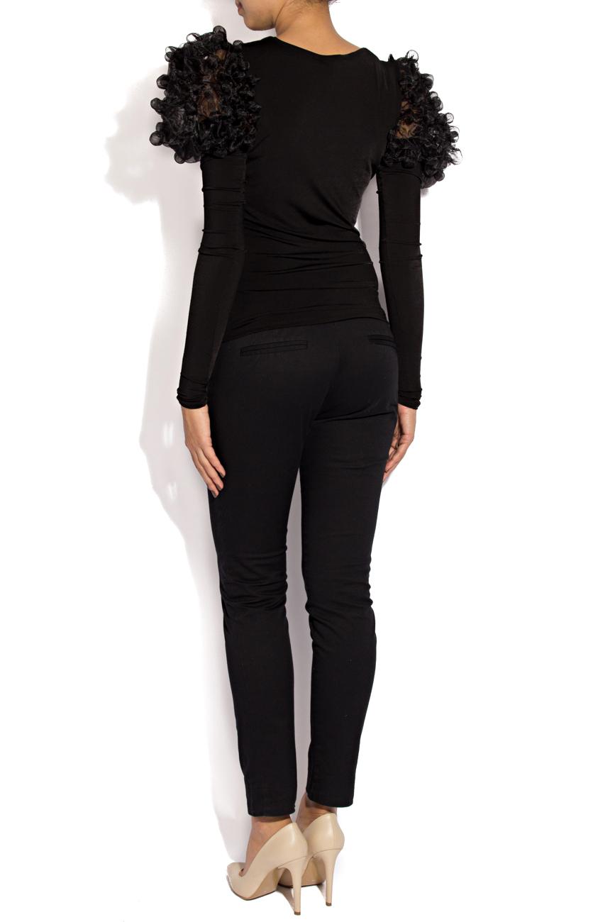 Bluza neagra cu bile Mihaela Cirlugea  imagine 2