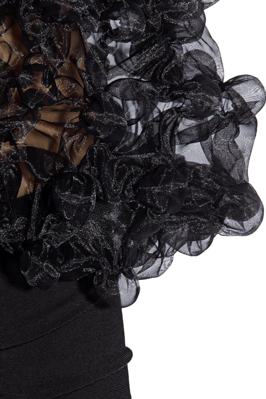 Bluza neagra cu bile Mihaela Cirlugea  imagine 3