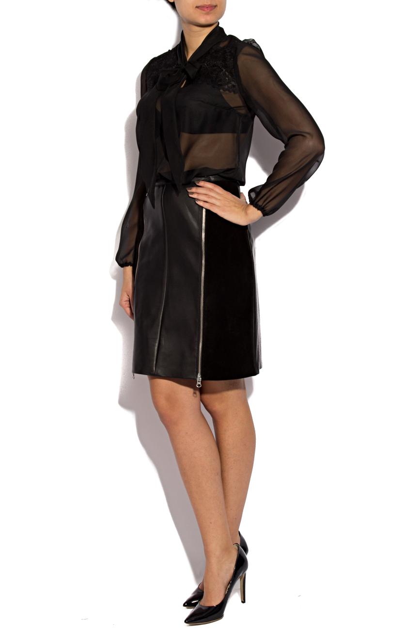Leather skirt with zipper Giuka by Nicolaescu Georgiana  image 1